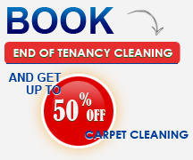 Book end of tenancy cleaning and get up to 50% off carpet cleaning